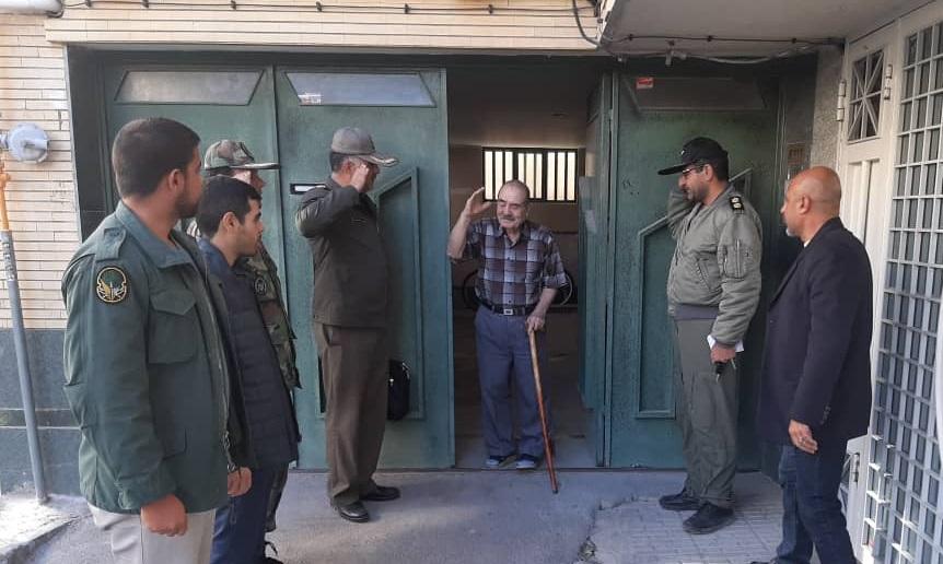 دیدار خلبانان هوانیروز با فرمانده پیشکسوت ارتش تیسمار آذرفر
