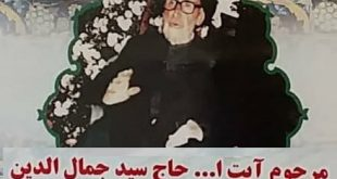 آیت الله سید جمال الدین بربرودی آیت الله دیار الیگودرز